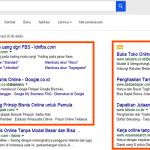 tampilan iklan penelusuran di Google AdWords