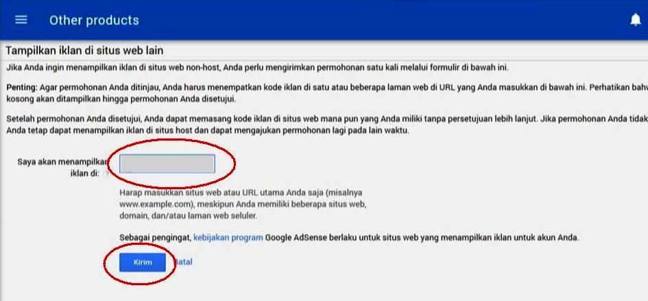gambar 3 - cara mengubah akun hosted mejadi non-hosted - url situs, kirim atau submit