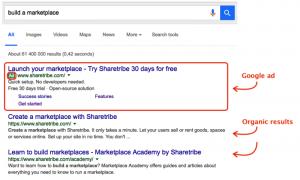 Tampilan GoogleAdWords sebagai bagian dari iklan online
