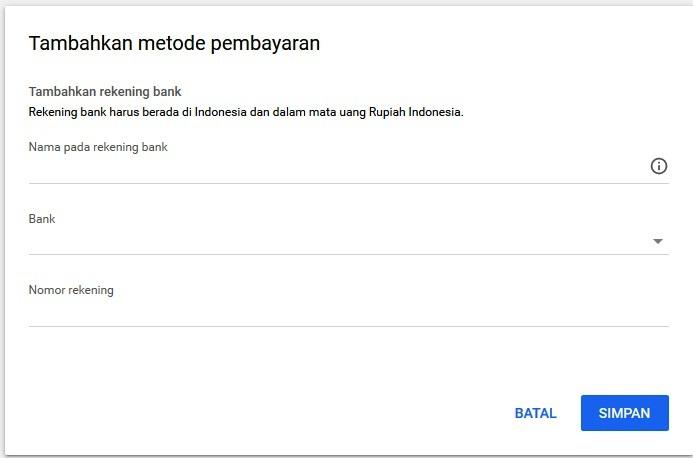 verifikasi rekening bank untuk pembayaran google adsense - 1