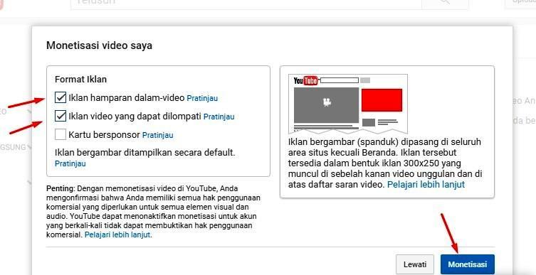 Gambar 4 : daftar google adsense melalui youtube