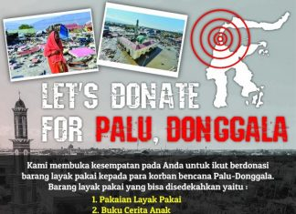 let's donate for palu, donggala