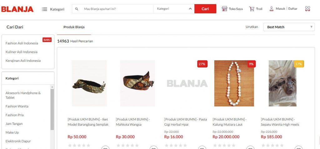 Belanja.com sub kategori asli indonesia